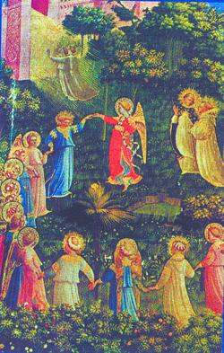 O detalhe de O Juízo Universal, de Fra Angelico. Reproduções/Revista USP