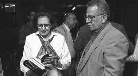 Foto: Francisco Emolo  Lygia Fagundes Telles e João Alexandre Barbosa na inauguração do Cinusp