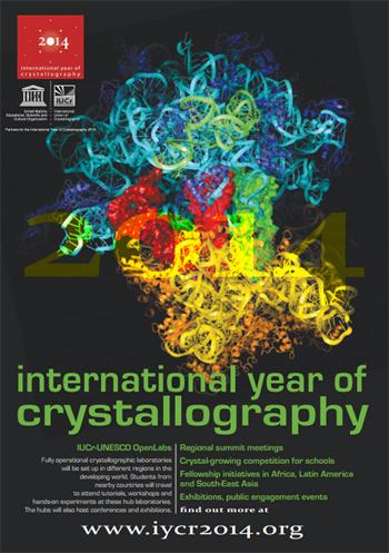 Foto: DivulgaçãoCartaz do Ano Internacional da Cristalografia