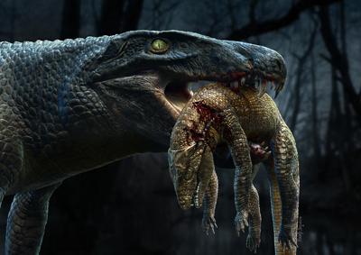 Foto: Rodolfo Nogueira Reprodução do Aplestosuchus sordidus