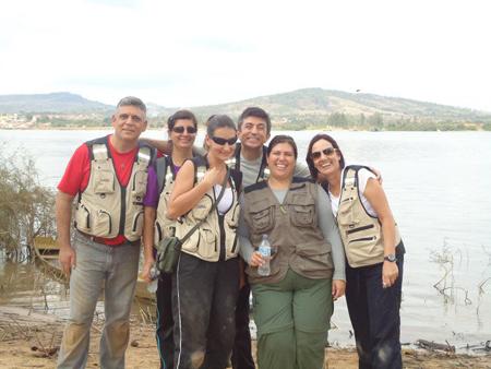 Foto: DivulgaçãoGrupo do Centro de Medicina Legal, em que o professor coordena o Laboratório de Antropologia Forense