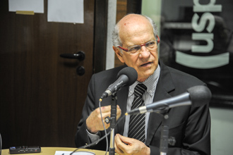 Foto: Cecília Bastos / Jornal da USPEntrevista com o prefeito da Cidade Universitária, Arlindo Philippi Jr na Rádio USP