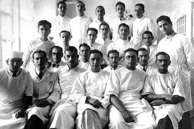 Alunos da Liga de Sífilis em 1938