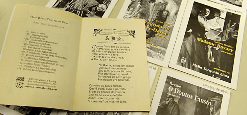 A Ilíada, de Homero, em versos de cordel | Foto: Marcos Santos / USP Imagens