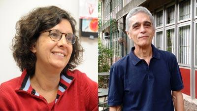 Heloisa Buarque de Almeida (esq.) e Sergio Cardoso (dir.) | Foto: Cecília Bastos e Arquivo Pessoal