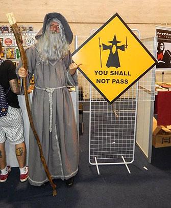 Gandalf, ou melhor, Wolfgang, na Comic Con Experience